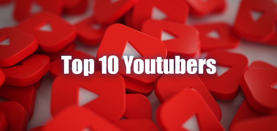 Top 10 YouTubers and their Income