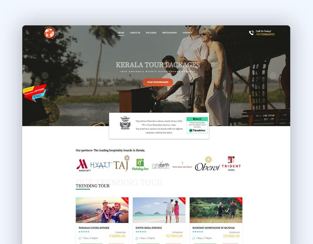 web designing Client Travel Saga