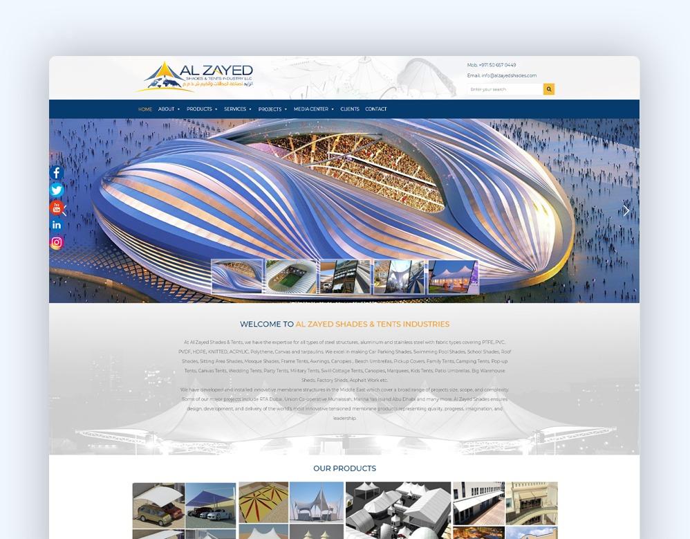 web designing Client Al-Zayed