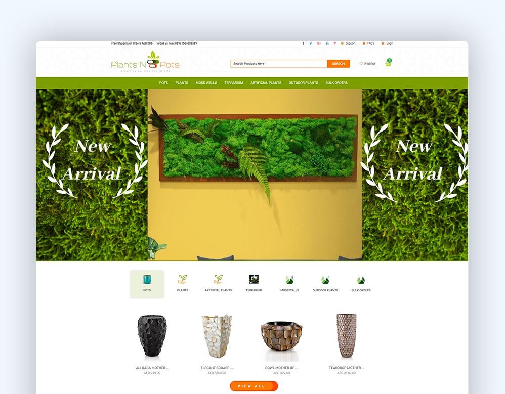 web designing Client Plants & Pots