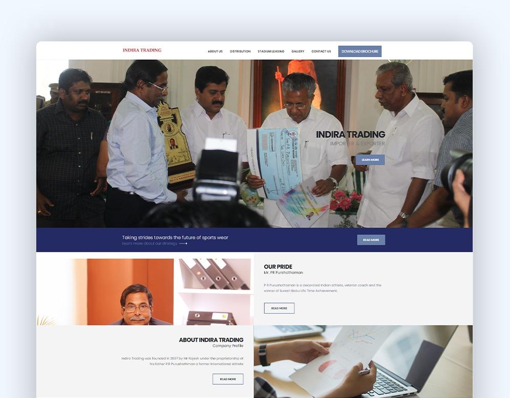 web designing Client Indira Trading