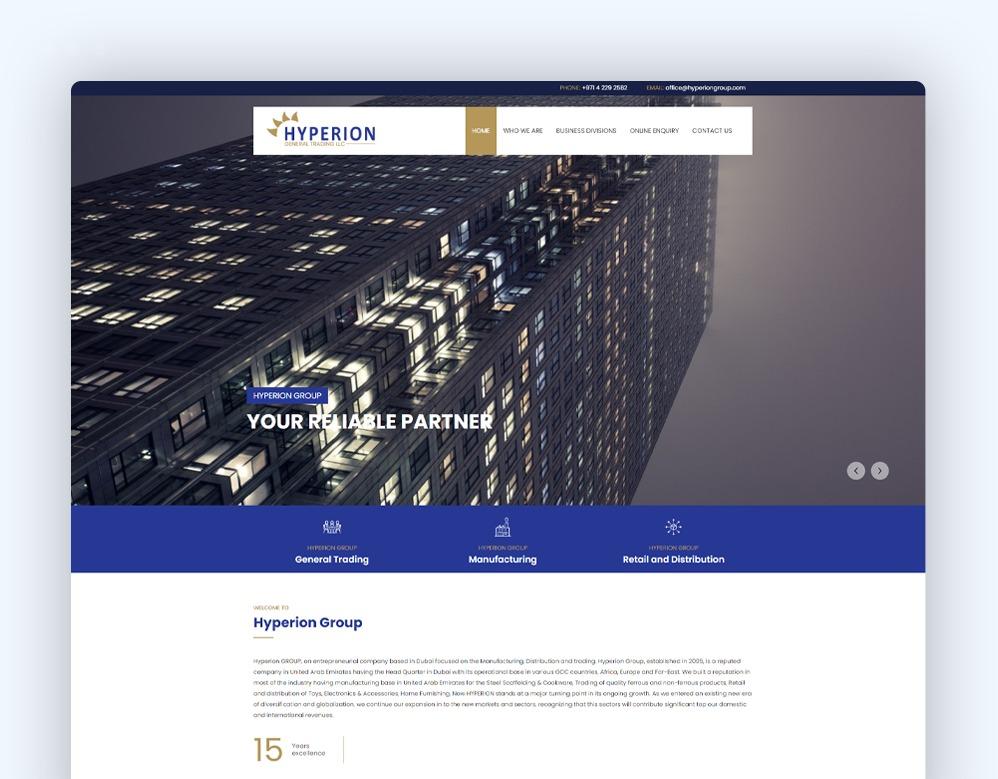 web designing Client Hyperion