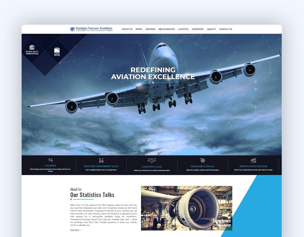 web designing Client Golden Falcon Aviation