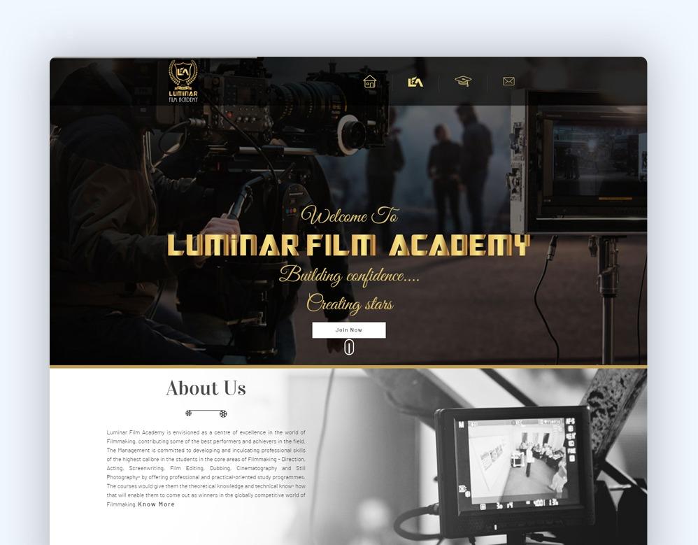 web designing Client Luminar Film Academy