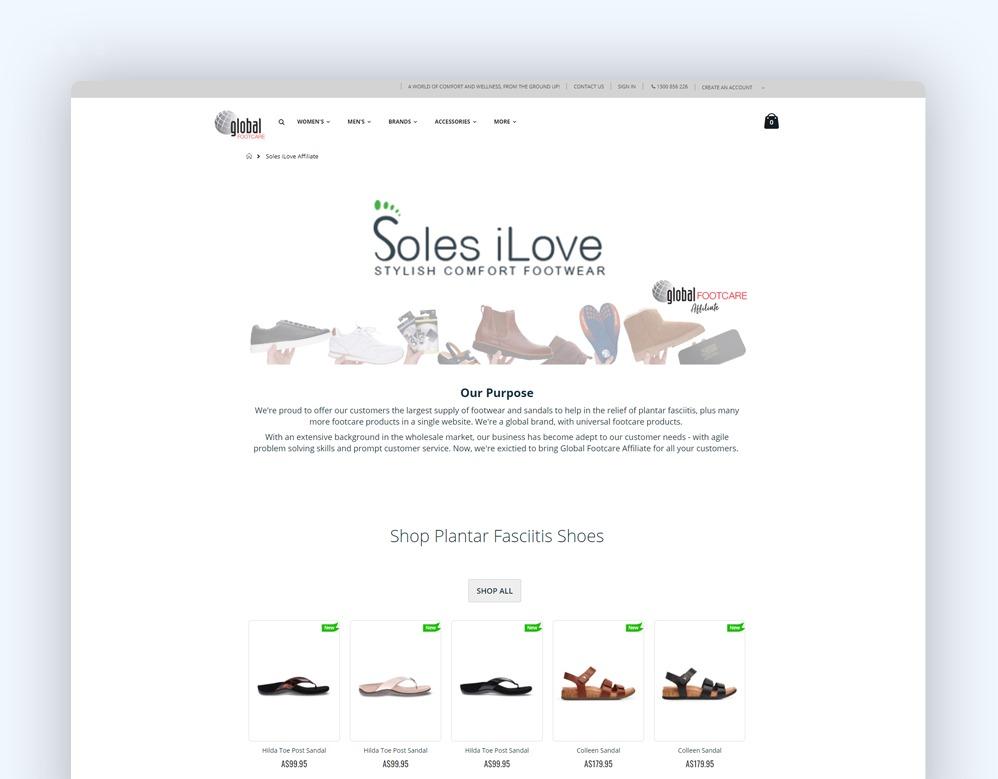 web designing Client Soles I Love