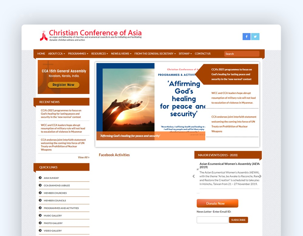 web designing Client Christian Conference of Asia