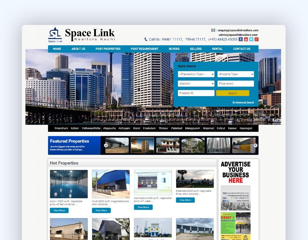 web designing Client Space Link Realtors