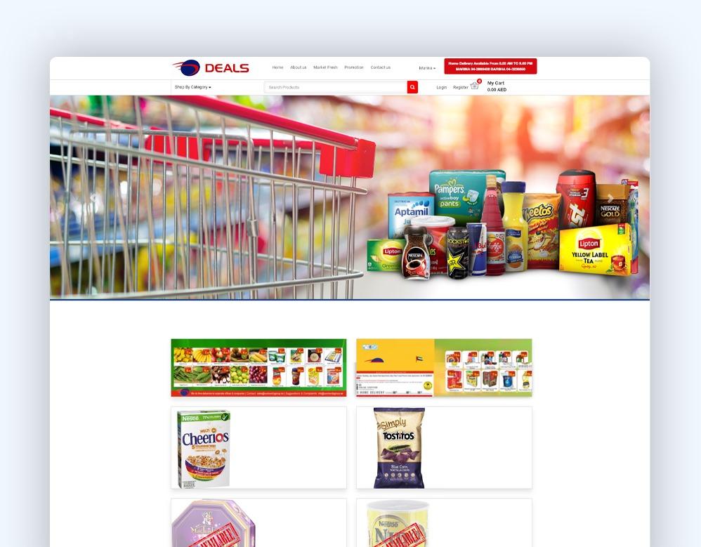 web designing Client Deals Supermarket