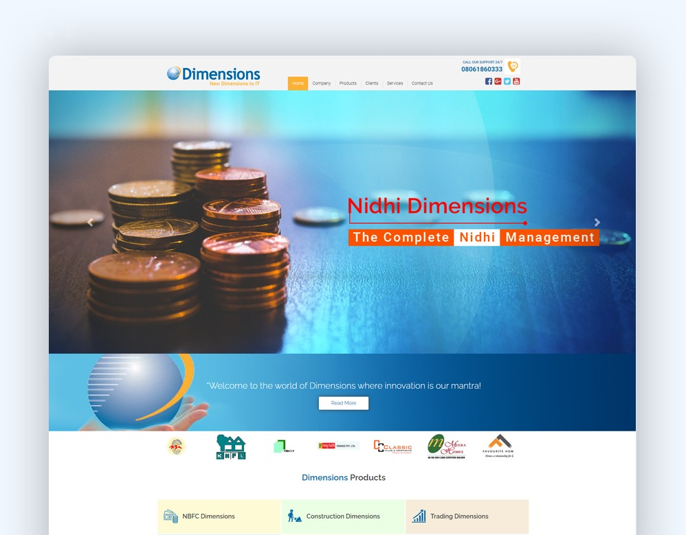 web designing Client Dimensions