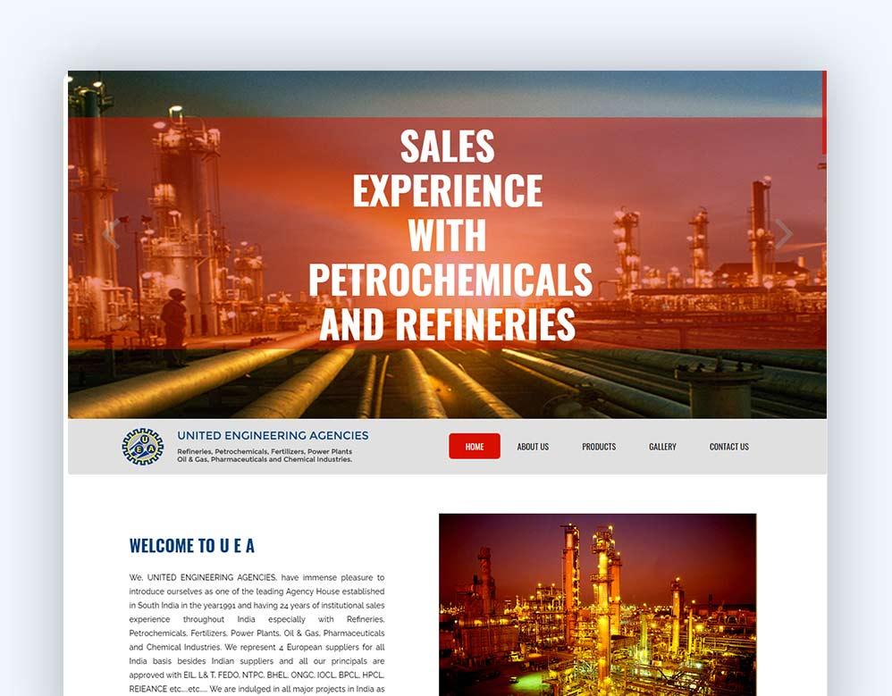 web designing Client United Engineering Agencies