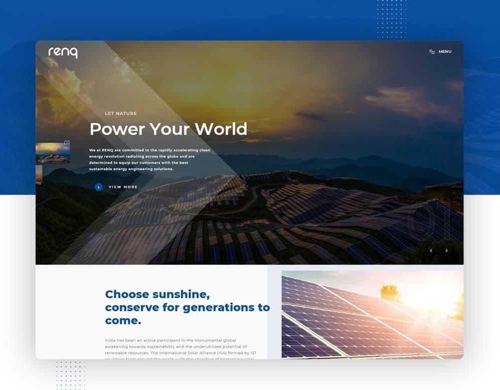web designing client RENQ