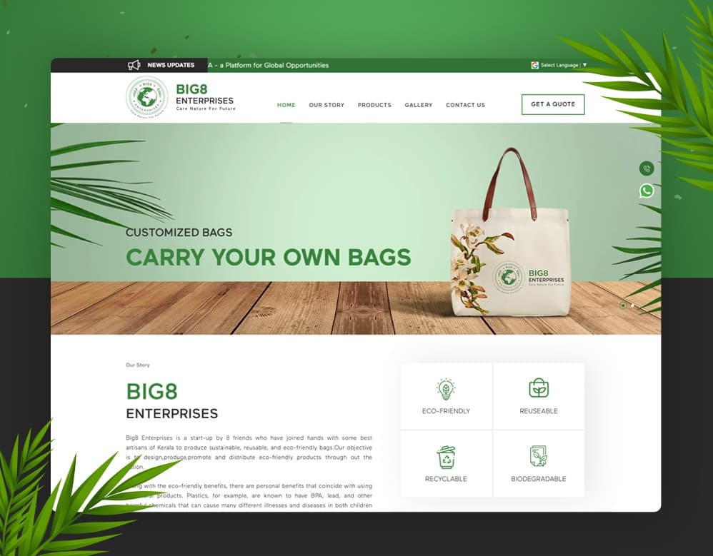 client Big 8 Enterprice portfolio