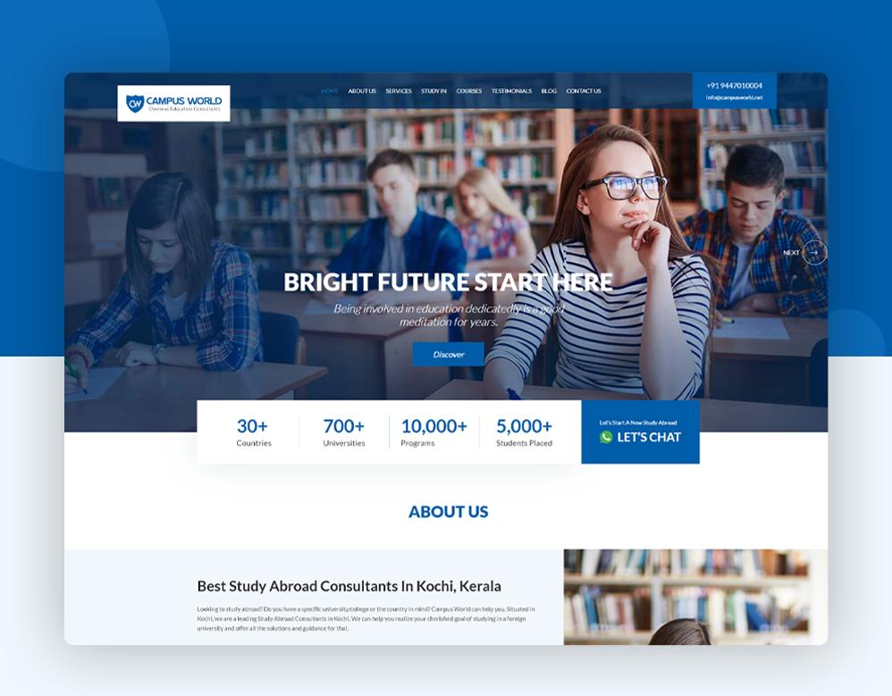 client Campus World portfolio